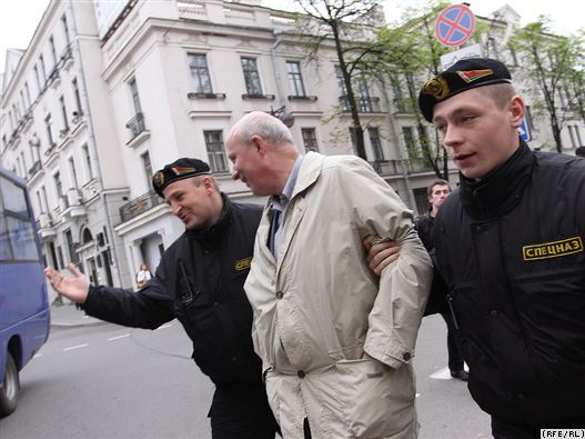 Затрыманыя Аляксандр Казулін, Аляксандр Макаеў, Мікола Дземідзенка