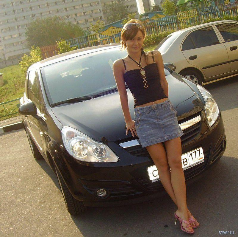 Красивые русские девушки и их машины. Часть 2 (24 фото).