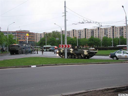 Минобороны: на репетиции парада в Минске БТР не горел