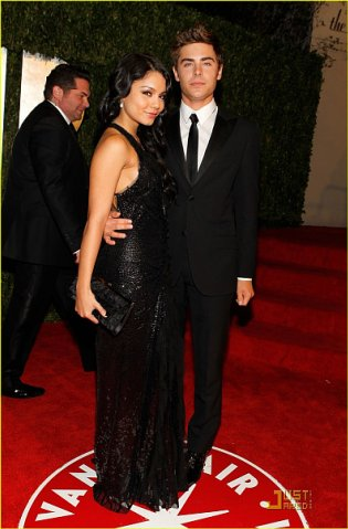 Vanessa Hudgens & Zac Efron (2010 Vanity Fair Oscar Party)