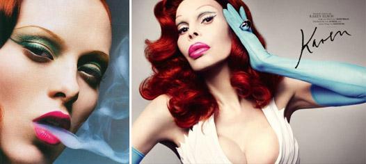 Аманда Лепор в образах легендарных супермоделей