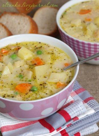 Густой картофельный суп с сыром