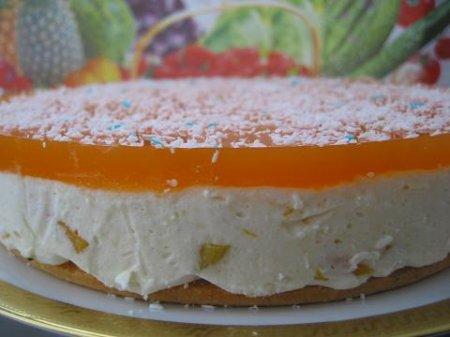 Персиковый торт-суфле