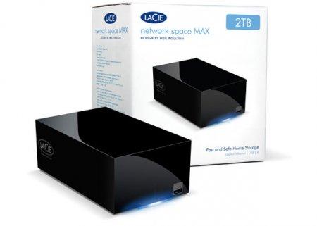 LaCie выпускает сетевую систему хранения данных Network Space MAX со встроенным торрент-клиентом