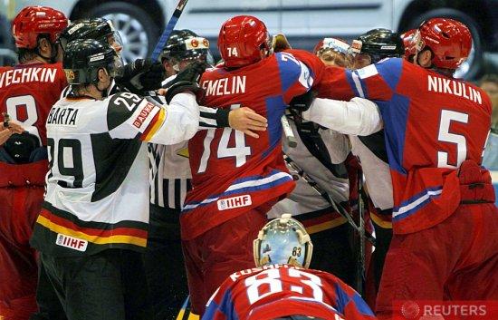 Хоккей. Россия обыграла Германию и в финале ЧМ сыграет с Чехией