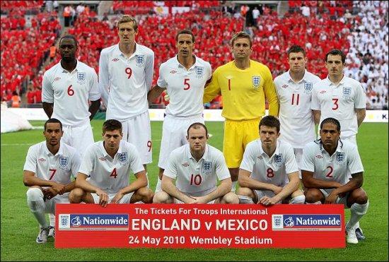 Сборная Англии начала подготовку к ЧМ-2010 с победы над Мексикой