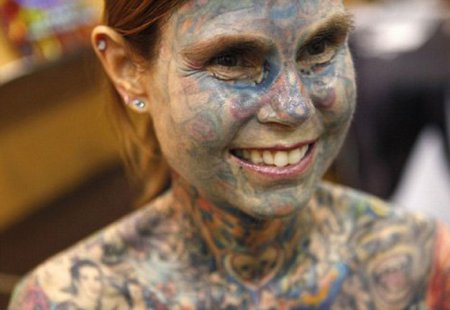 Самая татуированная