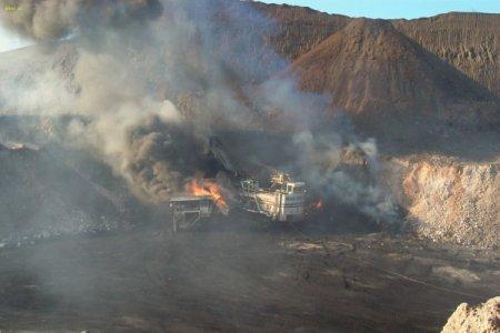 Добыча угля открытым способом в Южном Уэльсе в Австралии