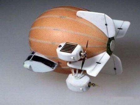 Как сделать дирижабль из яйца