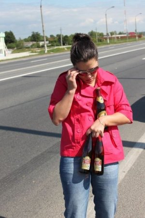 Грузовик с пивом попал в аварию