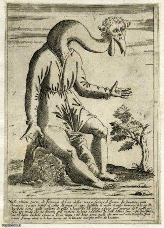 Старинные книги с рисунками монстров. 16-17 век