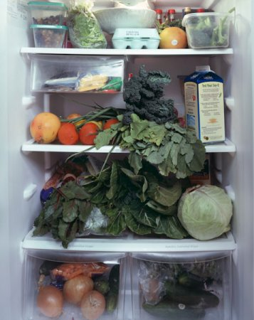 Содержимое холодильников жителей США