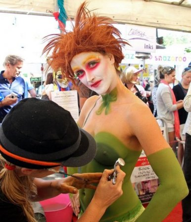 Фестиваль бодиарта в Австралии