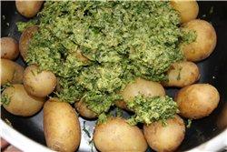 Картофель с сальса-верде