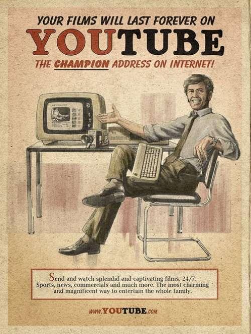 Винтажная реклама современных сервисов