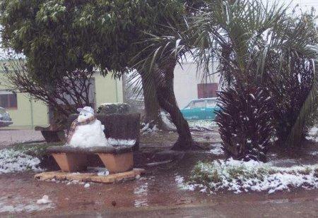 В Бразилию пришли самые сильные за десять лет снегопады