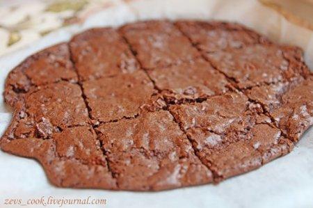 Шоколадное печенье с грецкими орехами