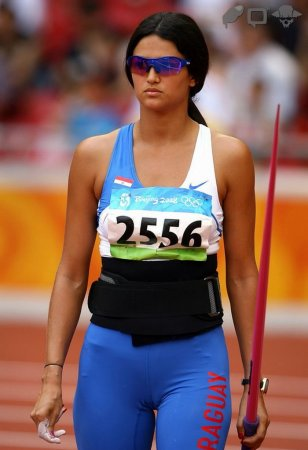 Очаровательная спортсменка из Парагвая