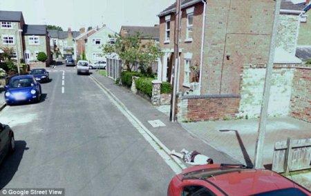 Труп ребенка на Google Street View