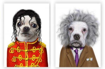 Животные пародируют знаменитостей