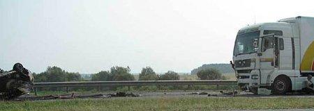 На мосту под Минском фура протаранила 8 легковушек