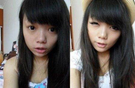 Девушки без косметики фото до и после