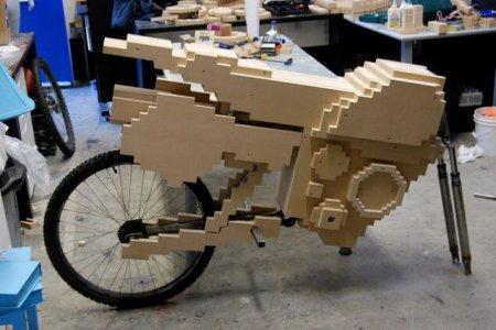 Пиксельный мотоцикл