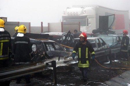 Авария с участием 46 автомобилей
