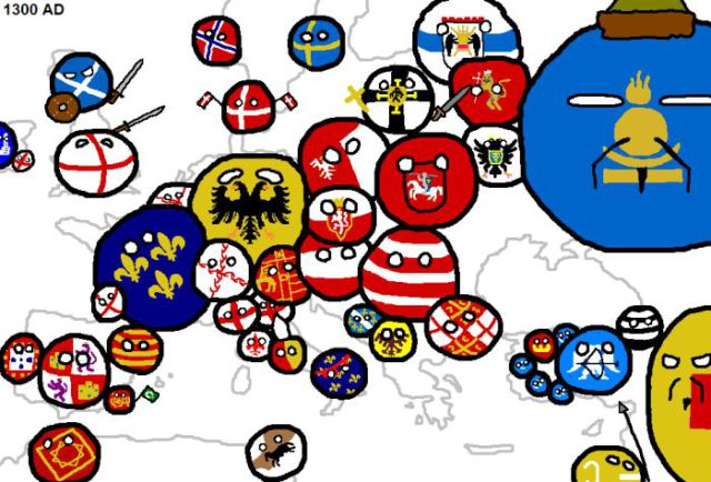 Карта конфликтов в Европе за 2000 лет
