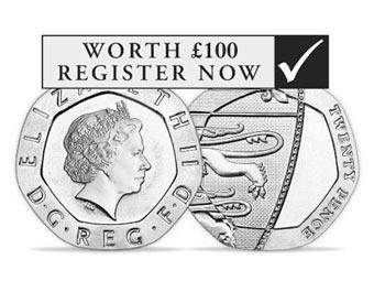 Ошибка на 20-пенсовых монетах подняла их цену в 500 раз
