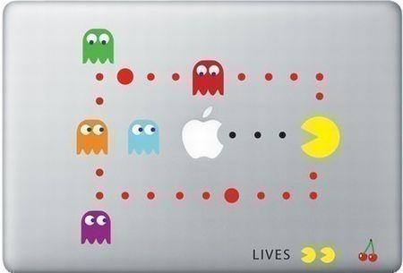 Креативные наклейки на продукцию Apple