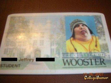 Студетнческие билеты в США - с юмором!
