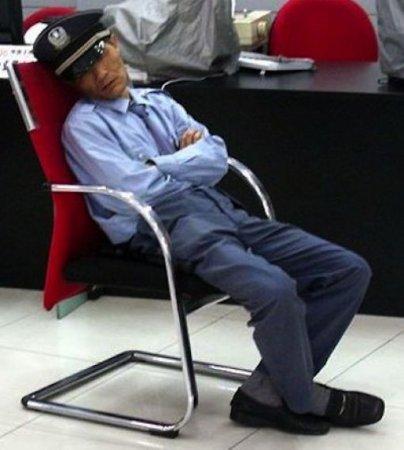 Спят усталые сотрудники...