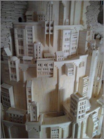 Минас Тирит, построенный из спичек