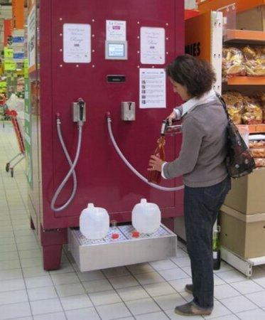Американские супермаркеты начнут продажу вина из насосов