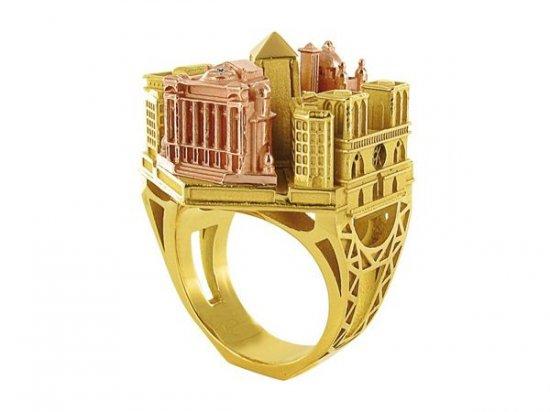 Кольца со зданиями