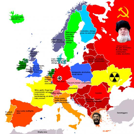 Еще одна стереотипная карта Европы