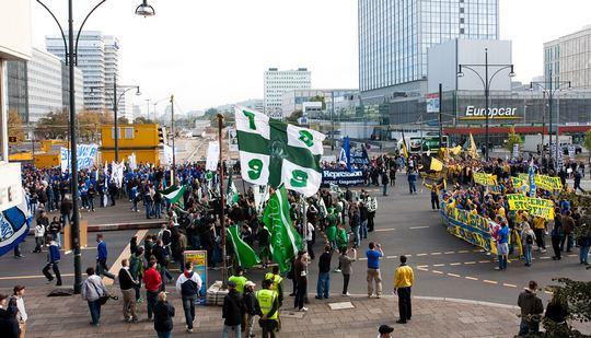 Протест немецких ультрас в Берлине !