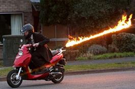 Англичанин разработал самый быстрый скутер в мире