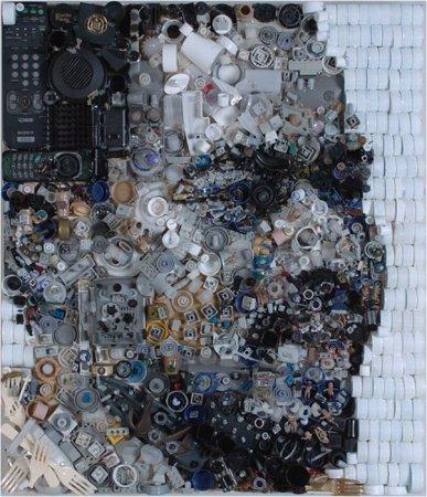 Портреты из предметов