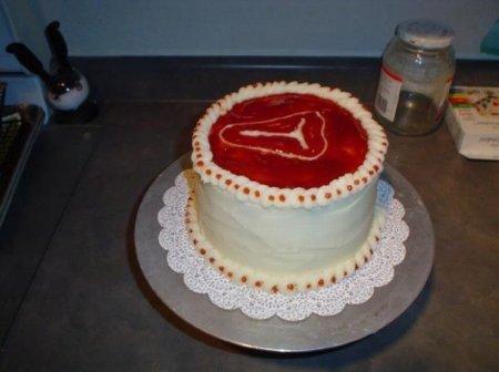 Мужской мясной торт