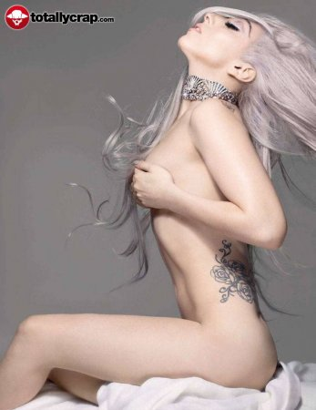 Lady Gaga naked in Tatler magazine