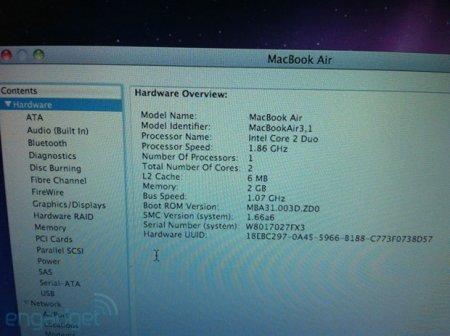 Engadget раскрыл тайну нового поколения MacBook Air?