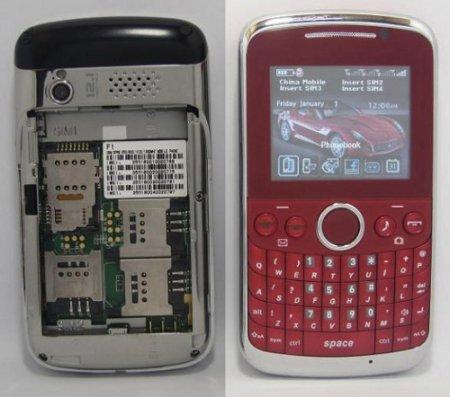 Рекордсмен: OTECH F1 - телефон на четыре SIM карты