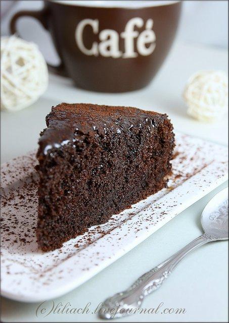 Сочный пирог шоколадный