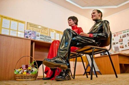 Латексная свадьба прошла в России
