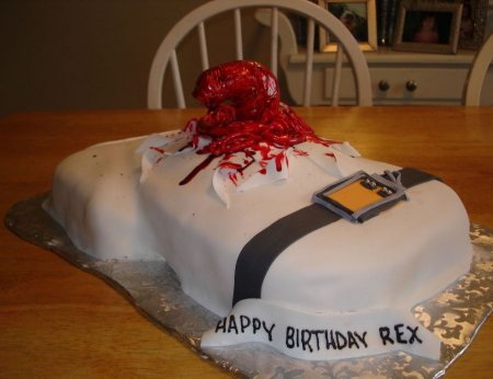 Тортики в стиле Чужих