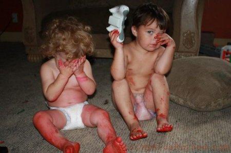 Дети пошалили
