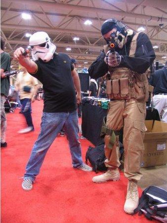 С шлемами не расстаются, имперские штурмовики