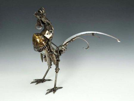 Креативные скульптуры из разных запчастей
